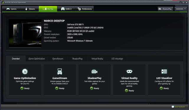 NVIDIA GeForce Experience 359.00
