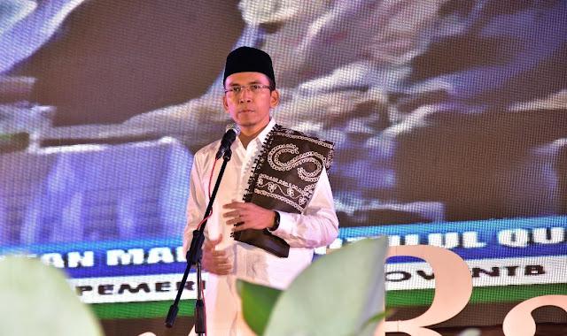 TGB : Nuzulul Qur'an Momentum Membumikan Jiwa Qur'ani