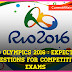 Rio Olympics 2016 : Expected Questions for Competitive Exams - PDF Download