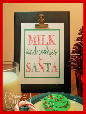 Milk and Cookies for Santa printable