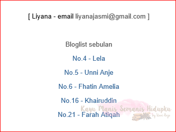 Menang November Giveaway By CP ~ Bloglist By Liyana Jasmi
