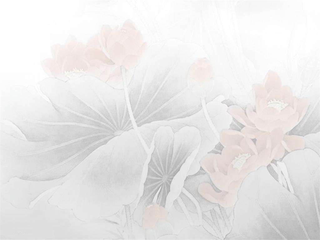 Elegant Lotus PPT template background