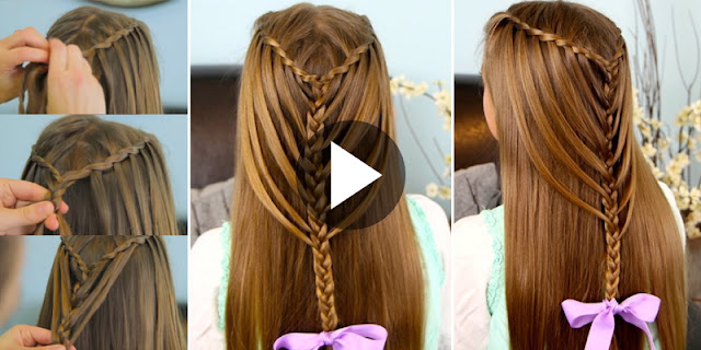 How To Create Waterfall Twists Hairstyle, See Tutorial