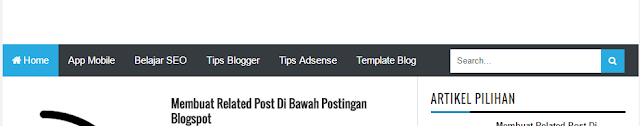 Cara Membuat Navigasi Menu dan Multi Dropdown Responsive Di Blogspot