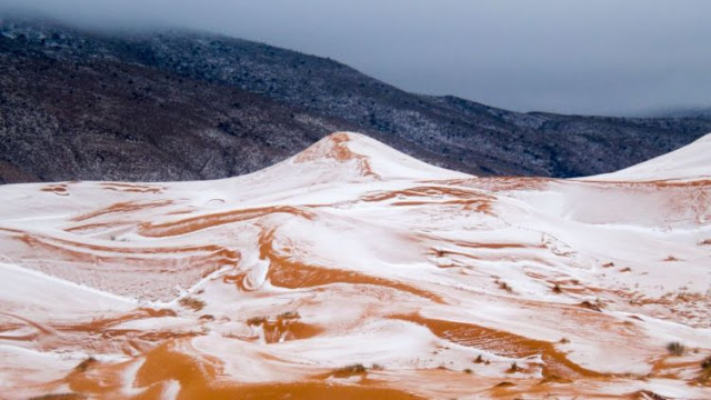 Salju Berhamburan Jatuh Di Gurun Sahara, Apakah Ini Tanda Kiamat