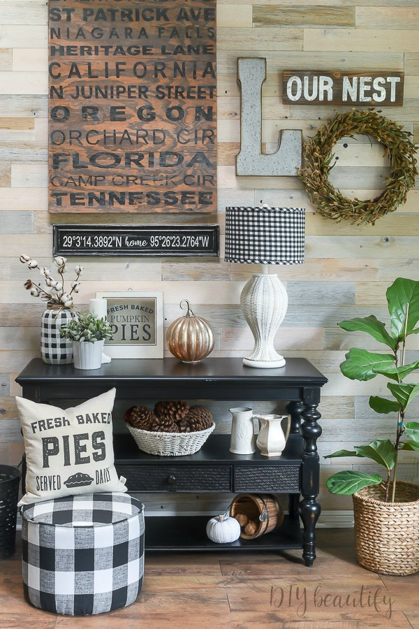 gallery wall fall decor