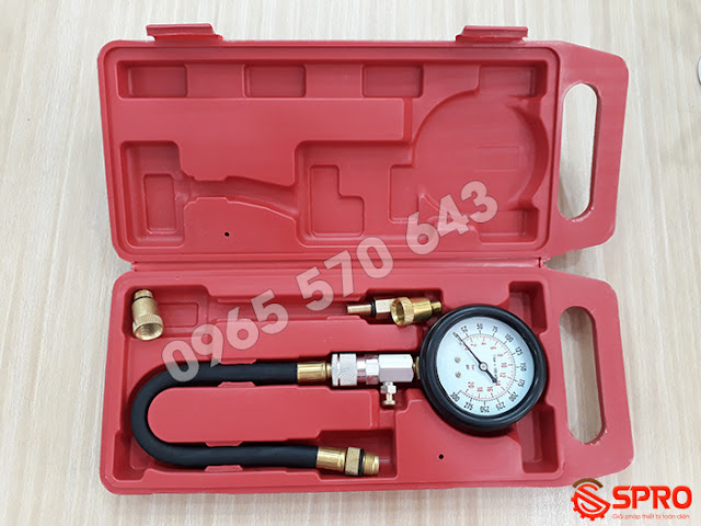 Đồng hồ đo áp suất buồng đốt xe máy FI, bộ kiểm tra áp suất buồng đốt