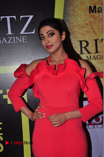 Actress praneetha Stills in Red Long Dress at South Scope Lifestyle Awards 2016 Red Carpet  0021.JPG