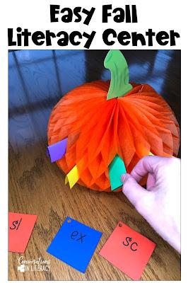 fall literacy centers pick a pumpkin