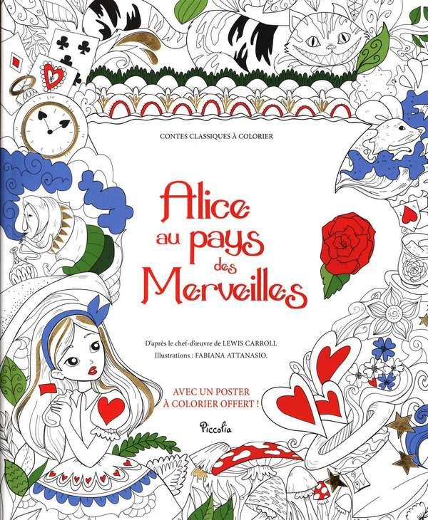 livre de coloriage pour adulte Alice au pays des merveilles de Fabiana Attanasio