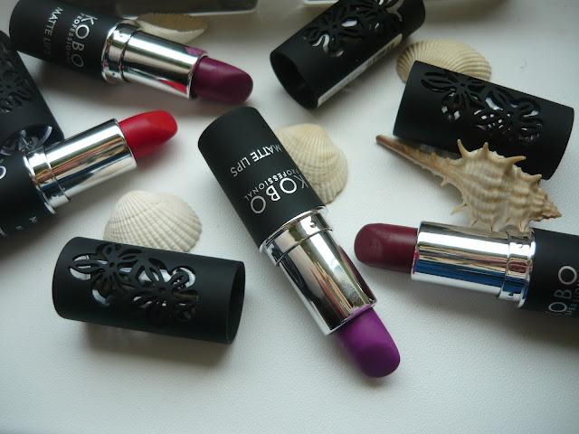 Kobo professional matte lips - przegląd 4 kolorów