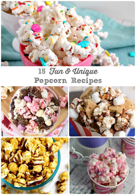 From sweet to savory to salty & sweet, these 15 Fun & Unique Popcorn Recipes are sure to be a hit at your next movie night-in, family get-together, or party.