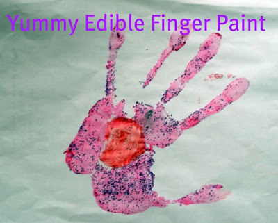 The Kissing Hand with Craft for Preschool & Kindergarten with edible paint.