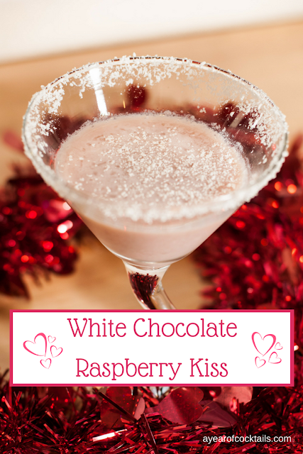 White Chocolate Raspberry Kiss is a perfect Valentine's Day cocktail blend of white chocolate and raspberry flavors.