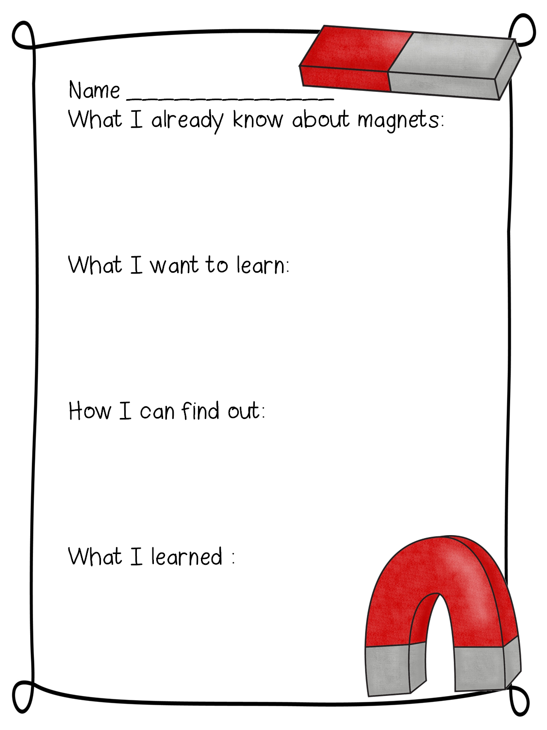 New 9 First Grade Science Worksheets On Magnets