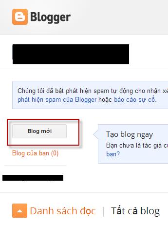 Hướng dẫn tạo Blogspot để làm Web