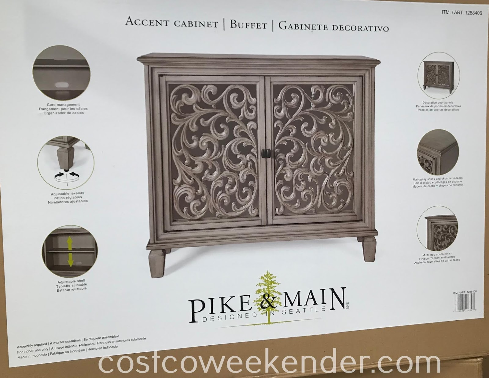 Costco 1288406 - Pike & Main Hermoine Accent Cabinet: great for any home