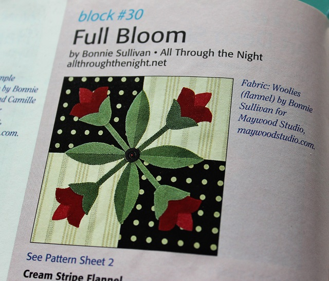 Full Bloom quilt block