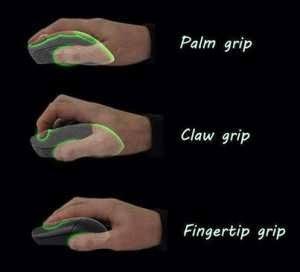 cara memegang mouse - mouse grip