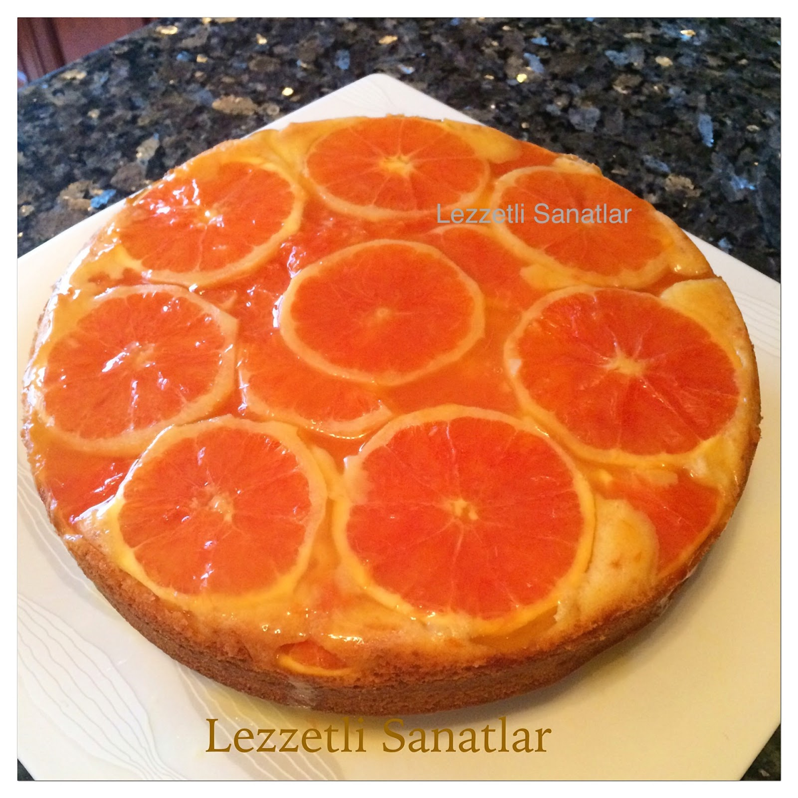 Baharatlı Portakallı Beze Pastası