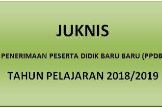 Juknis Penerimaan Peserta Didik Baru (PPDB) TK, SD/SDLB, SMP, SMA DAN SMK T.P 2018/2019
