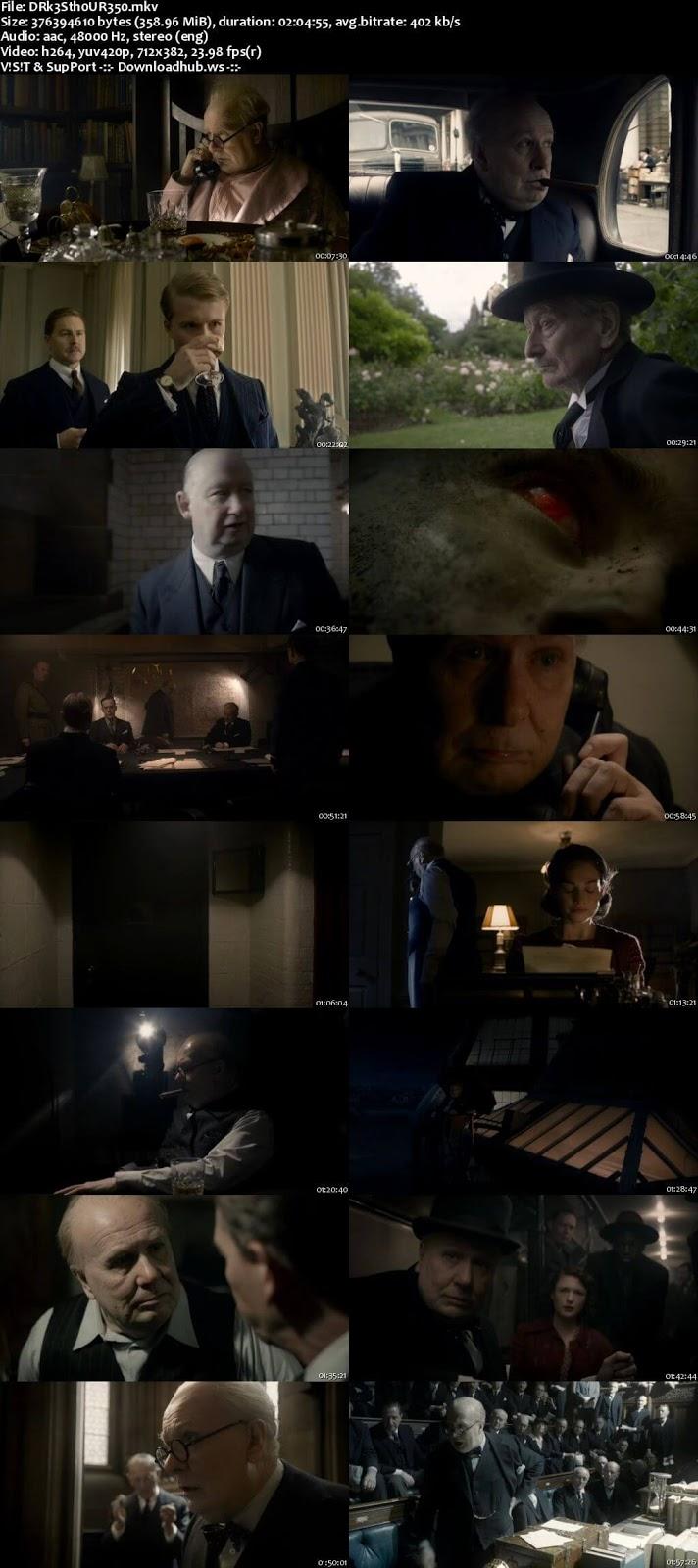 Darkest Hour 2017 English 480p Web-DL ESubs