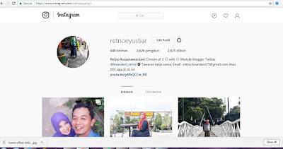 Cara Mengunggah Foto ke  Instagram menggunakan Laptop dan Serba-serbi Instagram lainnya lemaripojok