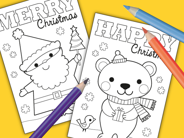 honey jumble: FREE printable colour-in Christmas cards