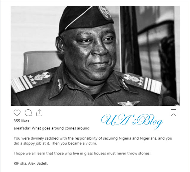 """What goes around comes around"" – Charly Boy unsympathetic as he reacts to the killing of Alex Badeh"