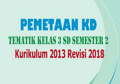 Pemetaan KD Tematik Kelas 3 SD Semester 2 Kurikulum 2013 Revisi 2018