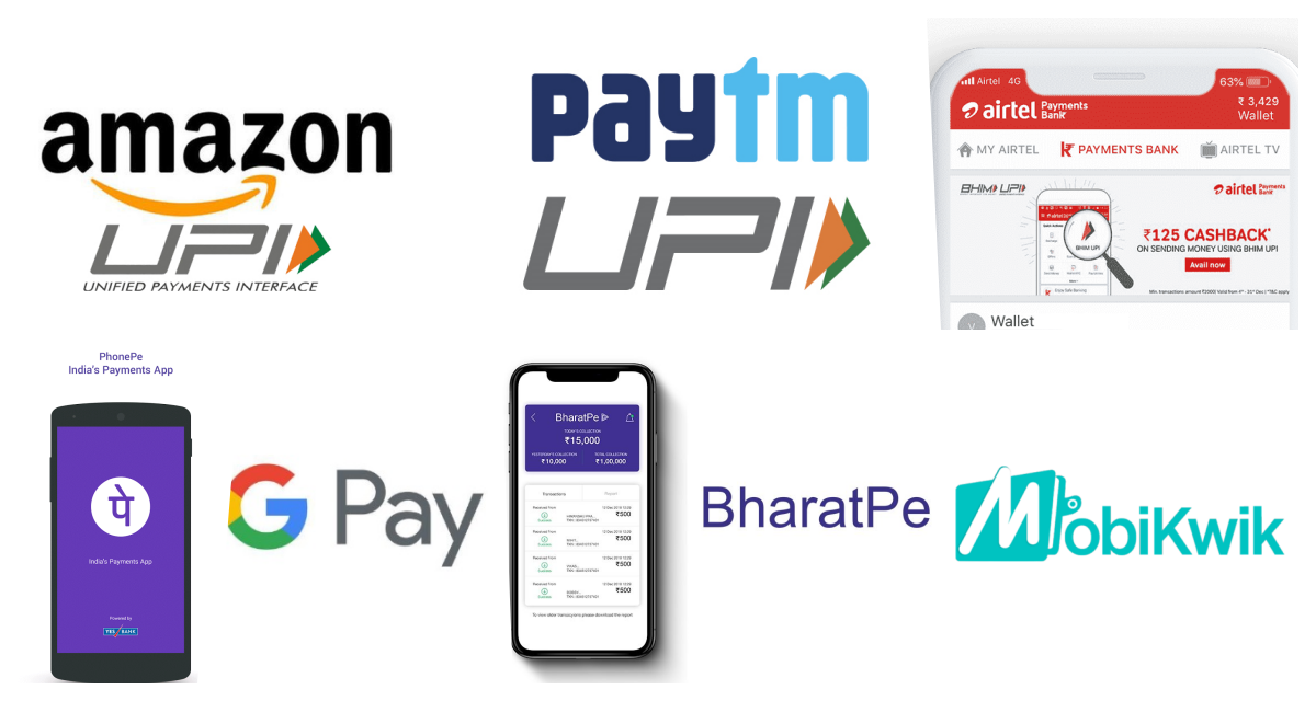 Send Money Via UPI and Get Cashback Best Indian Apps