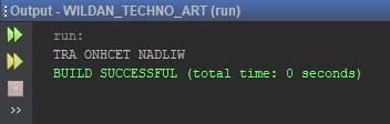 Membalikan karakter menggunakan fungsi reverse()