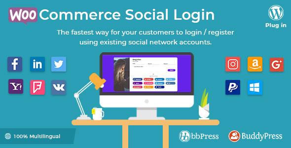 WooCommerce Social Login v1.8.5 – WordPress plugin