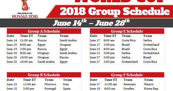 It's just a graphic of Printable World Cup Schedule regarding date