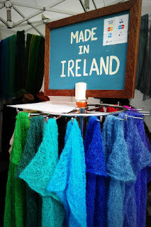 note saying: made in Galway at the market