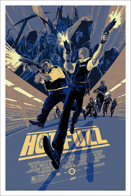 MondoCon 4 Exclusive Hot Fuzz Movie Poster Screen Print by Rich Kelly x Mondo
