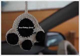 free crochet paw pattern