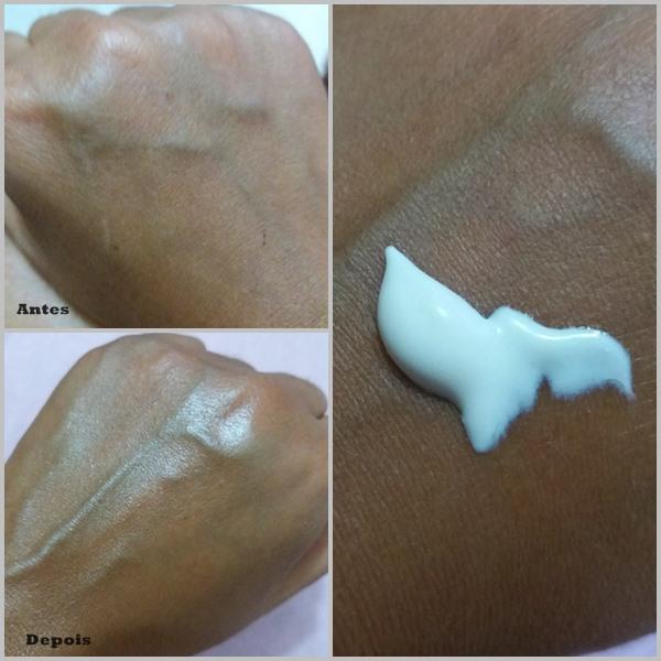 Protetor solar SUN+: Demonstrando aplicação na pele