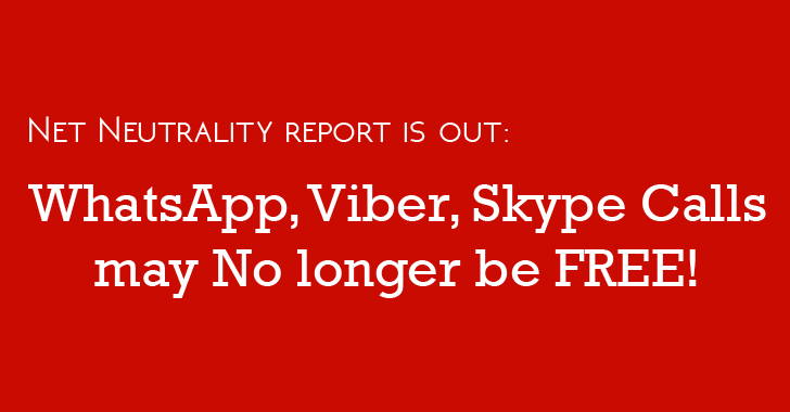 WhatsApp, Viber and Skype Internet Calls may No Longer be FREE in India