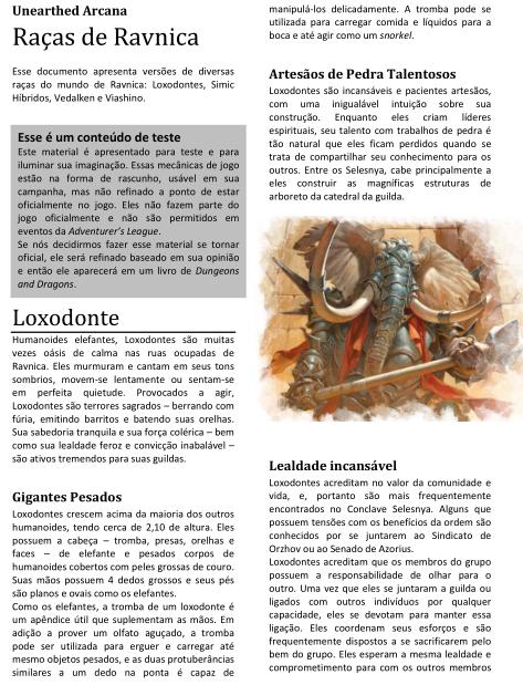 Blog Joga o D20: Unearthed Arcana - Raças de Ravnica!