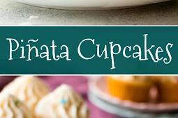 Party Piñata Cupcakes