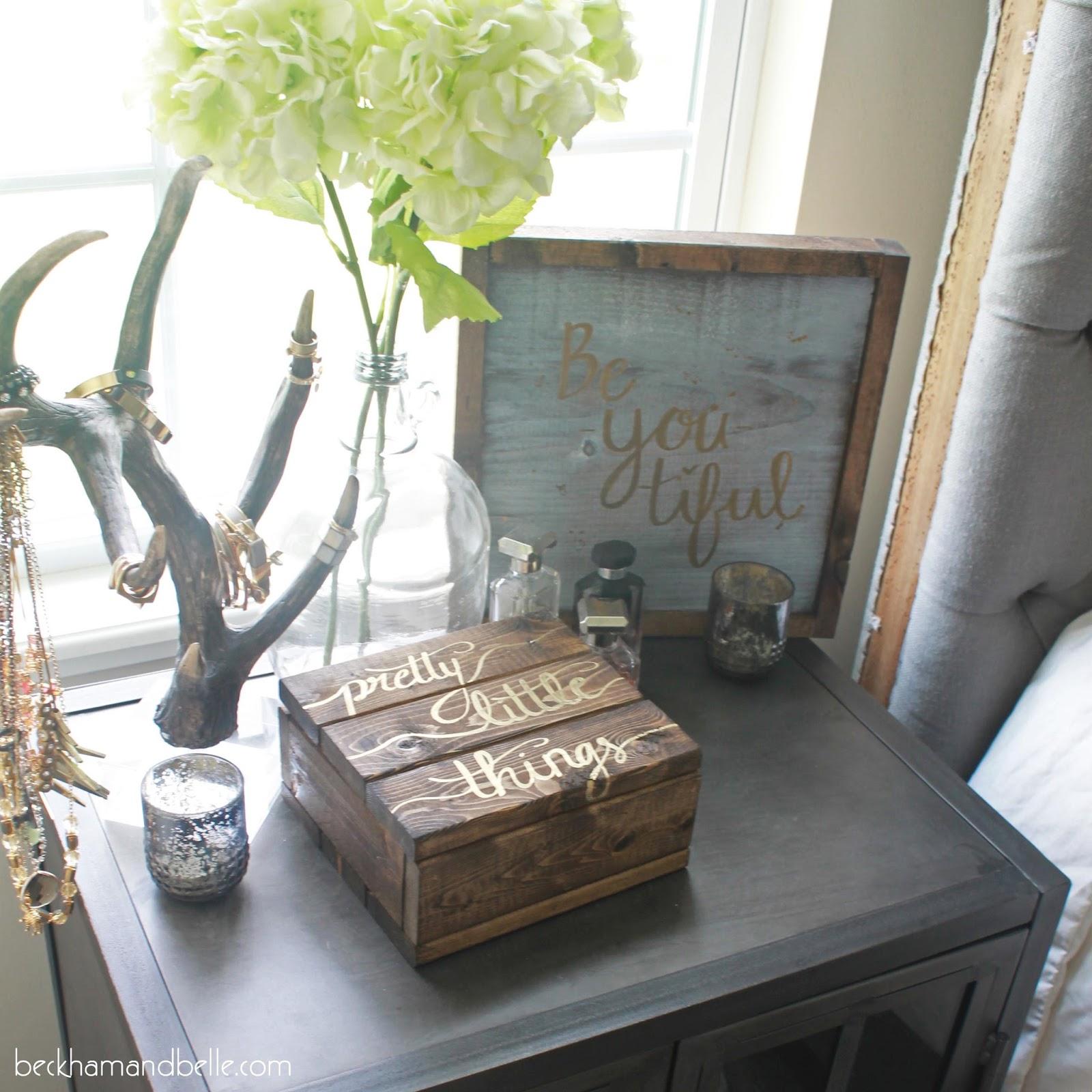 Diy Wooden Jewelry Accessories Box Beckham Belle