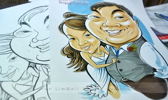 caricature drawn by triton lim
