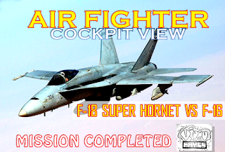 Best Strike F-18 Super Hornet VS F-16 - Cockpit View - Mission Completed
