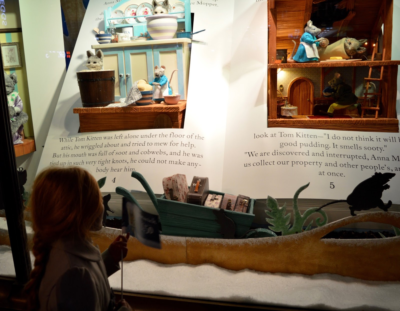 Fenwick's Window Newcastle 2016. Beatrix Potter / Peter Rabbit theme