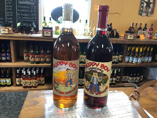 Wine bottles from Buddy Boy Wine Shop in Gettysburg Pennsylvania