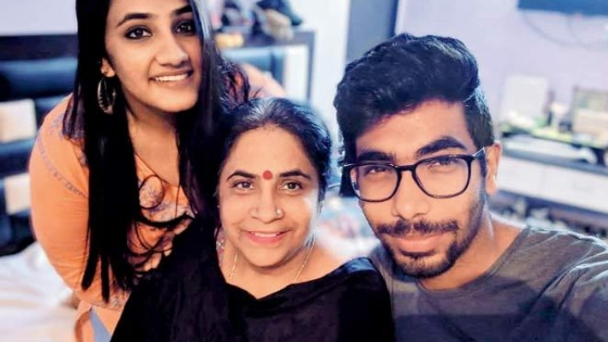 Jasprit Bumrah In His Mother