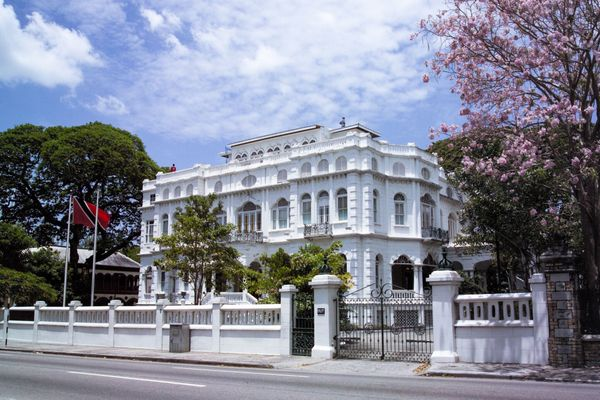 White Hall in Queen's Park Savannah in Port of Spain, Trinidad