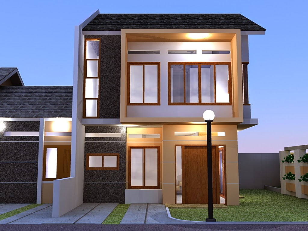 Gambar Desain Kreatif Rumah Minimalis 2 Lantai Sederhana