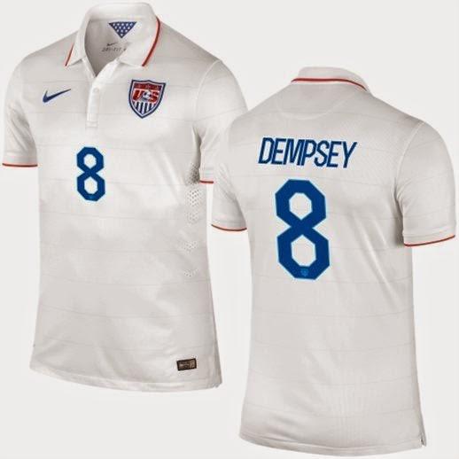 Clint Dempsey USA World Cup Soccer Jersey, USA World Cup 2X Jerseys